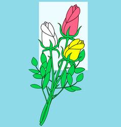 Rose flower bouquet vector