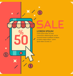 Sale in cartoon style with vector