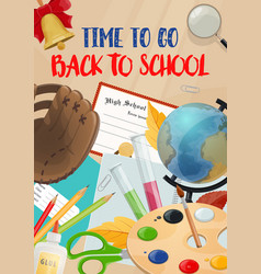 School time and education season poster vector