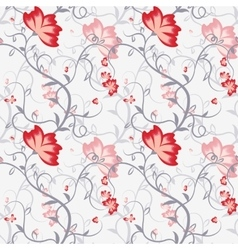 Seamless pattern with delicate intertwining stems vector