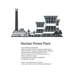 Silhouette Nuclear Power Plant Poster Brochure vector image