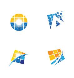 solar energy icon vector image