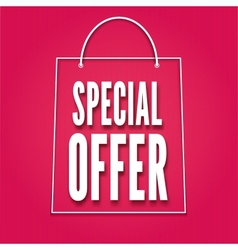 Special offer poster with bag vector image