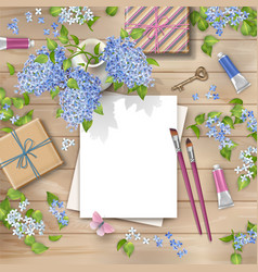 spring top view background vector image