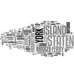 staten word cloud concept vector image