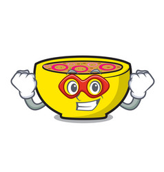 Super hero soup union character cartoon vector
