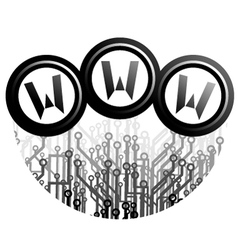 Tech web symbol vector