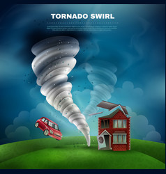 tornado natural disaster vector image