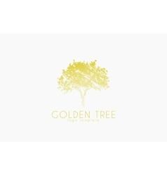 Tree logo Golden tree Nature logo design vector image