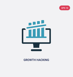 Two color growth hacking icon from technology vector