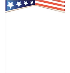 usa flag stylized frame background vector image