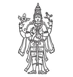 Vishnu vintage vector