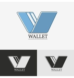 Wallet with credit card icon vector image