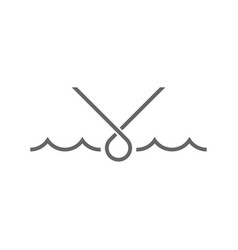 Wave water logo icon abstract vector