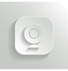 Webcamera icon - white app button vector image