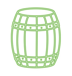 wooden barrel cartoon vector image