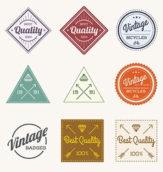 Collection of colorful vintage retro label set of vector