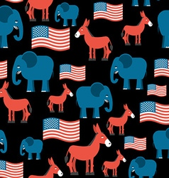 Elephant and Donkey seamless pattern Symbols of vector image vector image