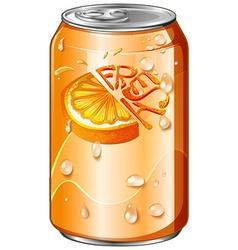 Fresh drink in orange can vector image vector image