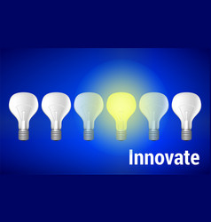 innovate concept with place vector image vector image