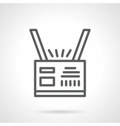 Personal badge black line icon vector image vector image
