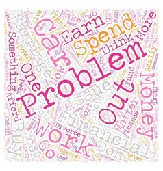 Why Let Financial Problems Ruin Your Marriage text vector image vector image