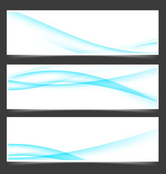 Blue business card layout abstract flyer design vector