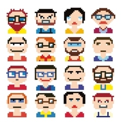 Icons in style pixel vector image