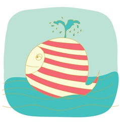 small whale vector image