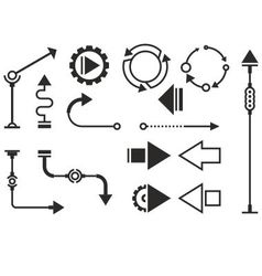 Steampunk graphic objects vector image vector image