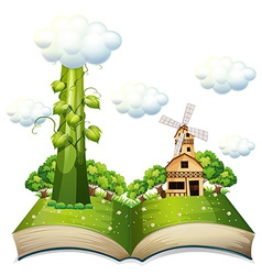 Beanstalk book vector