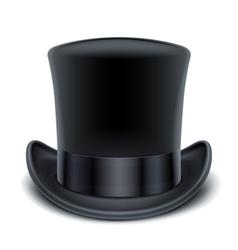 black top hat vector image