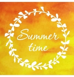 Card with summer wreath vector image vector image