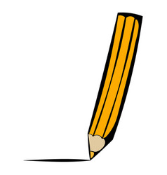 pencil icon icon cartoon vector image