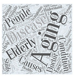 The aging body in healthy living word cloud vector