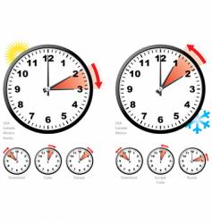 daylight saving time vector image vector image