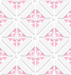 Diagonal pink floristic pattern vector image vector image