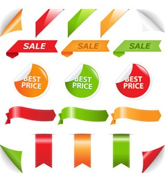 labels and web ribbons vector image vector image