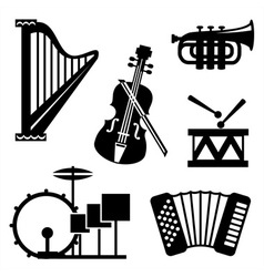 Musical tools icons vector