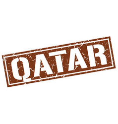 qatar brown square stamp vector image vector image