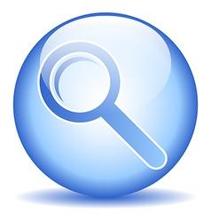 Search sign button vector