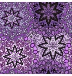 Violet seamless design in oriental style Stellar vector image vector image