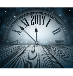 2017 New Year wooden background vector image