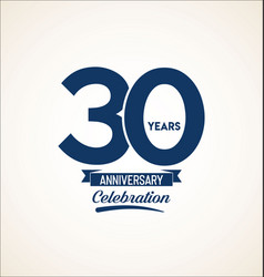 30 years anniversary black template background vector