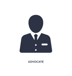 Advocate icon on white background simple element vector