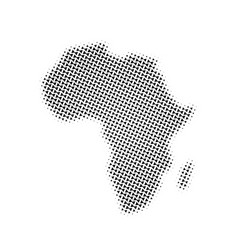 Africa map triangle halftone pictogram dotted vector