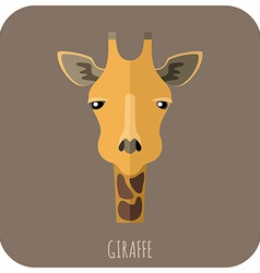 Animal Portrait With Flat Design Giraffe vector