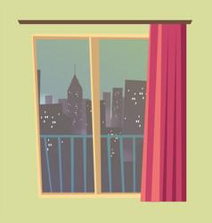 Apartment window indoors flat vector