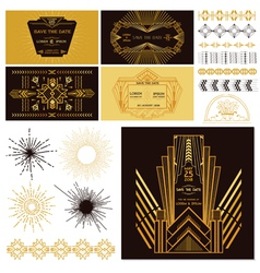 art deco or gatsby party set vector image