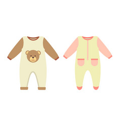 Baby clothes rompers set vector